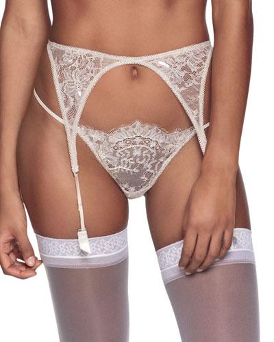 Embellished Lace Garter Belt
