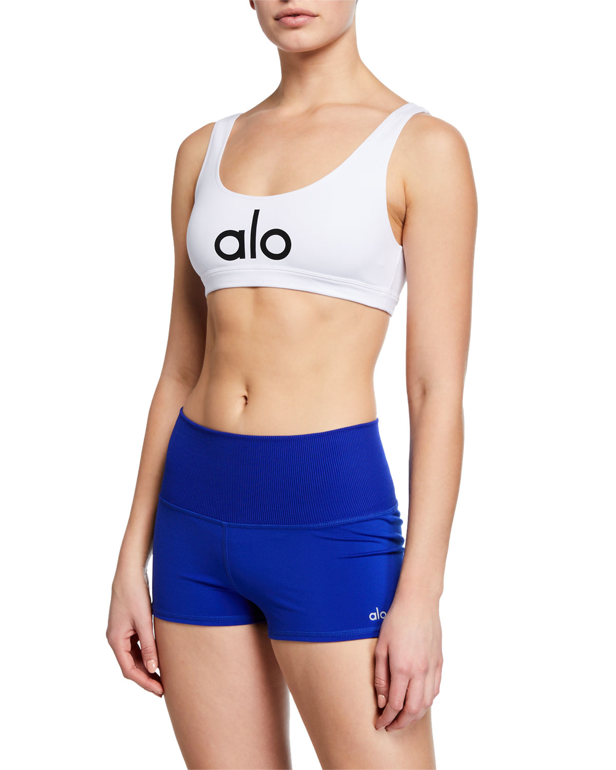 Alo Yoga Tops AMBIENT LOGO SPORTS BRA