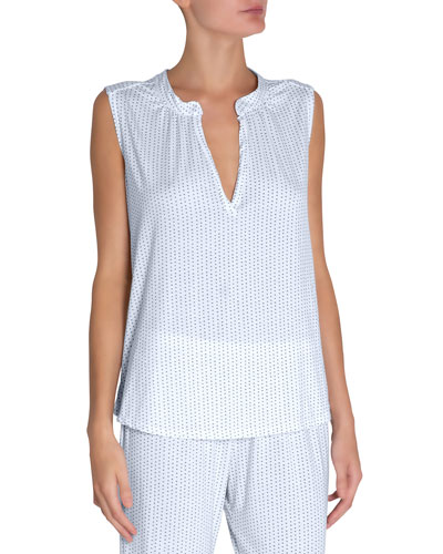 Tropea Sleeveless Lounge Peasant Top