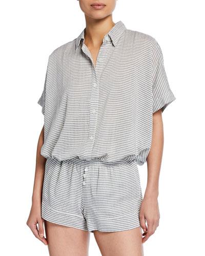 Nautico Striped Shorty Pajama Set