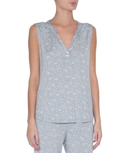 Moon Dots Sleeveless Peasant Top