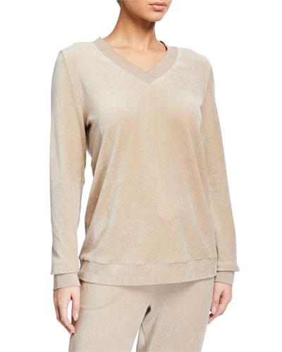 Favourites Velvet Long-Sleeve Pullover
