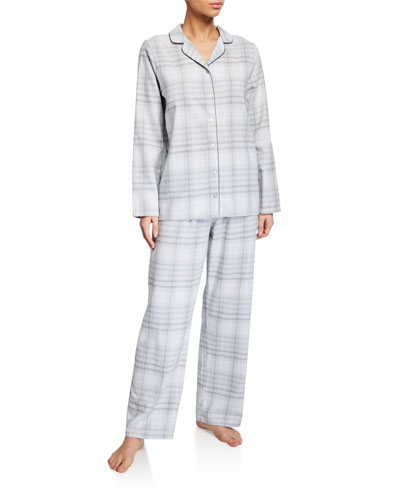 Edda Plaid Long Pajama Set