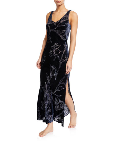 Faberge Floral Velvet Nightgown