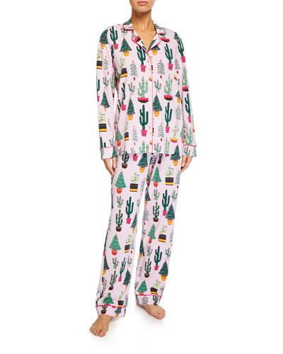 Christmas Cactus Classic Pajama Set