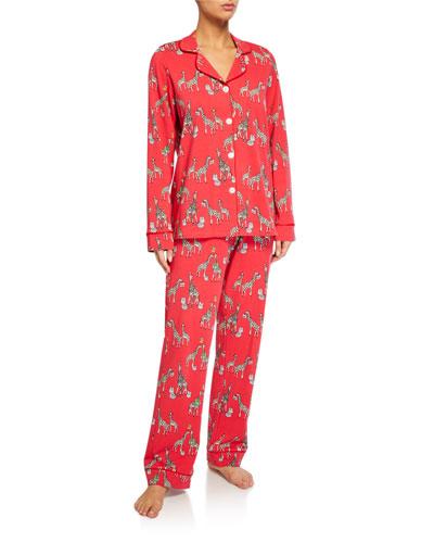 Holiday Giraffes Classic Pajama Set
