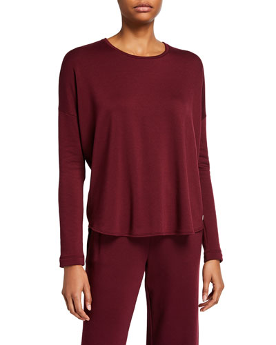 Cocoon Solid Knit Lounge Top