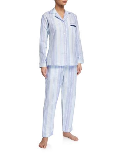 Striped Woven Pajama Set