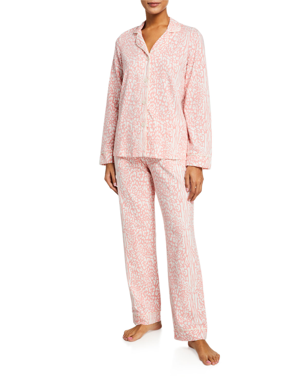 Bedhead Pajamas PLUS SIZE LEOPARD-PRINT CLASSIC PAJAMA SET