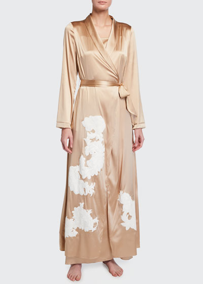 Primrose Hill Long Silk Robe