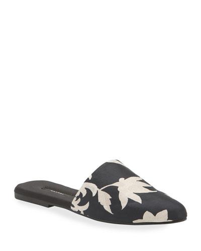 Fiesta Printed Mule Slippers