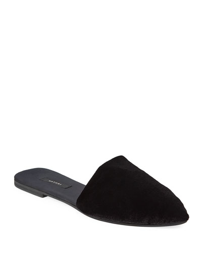 Solid Velvet Mule Slippers