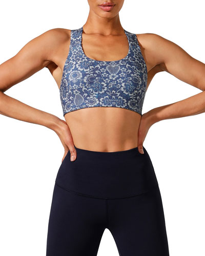 Foundation Support Printed Sports Bra