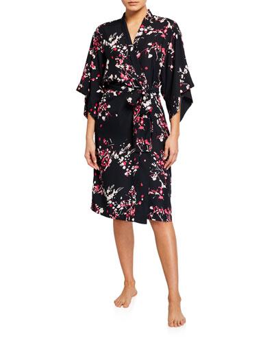 Matsuri Floral-Print Robe