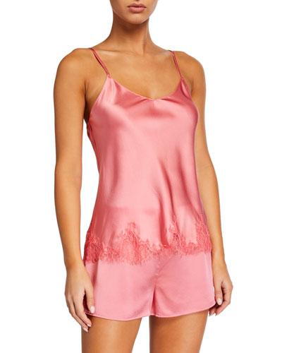 Baroque Lace Silk Camisole