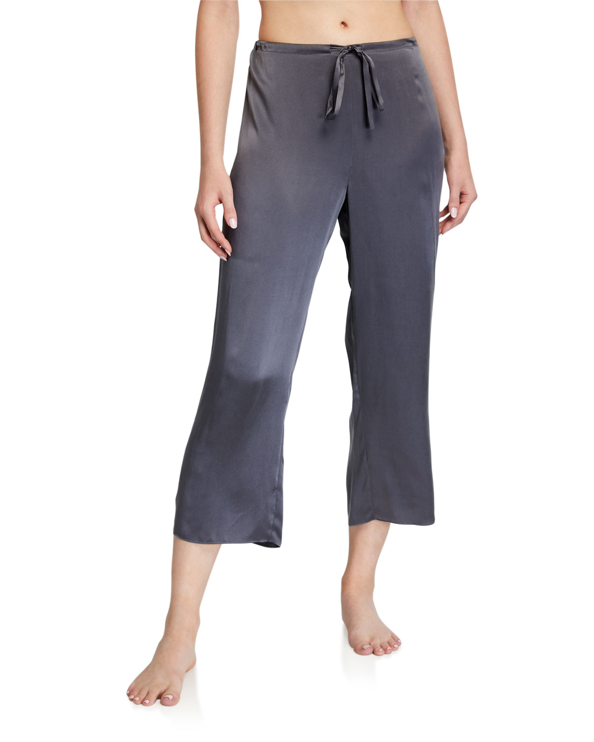 Ginia  CROP WASHABLE SILK PANTS