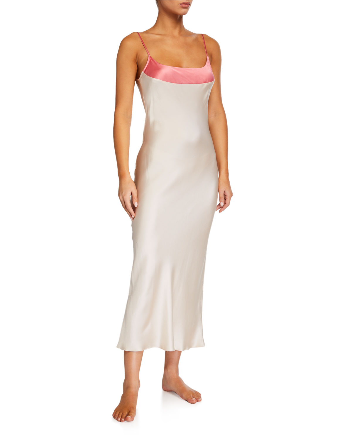 Ginia WIDE-BAND SILK NIGHTGOWN