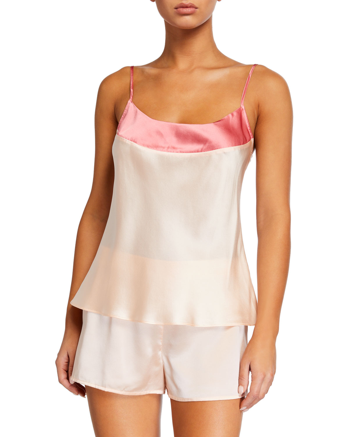 Ginia WIDE BAND SILK CAMISOLE