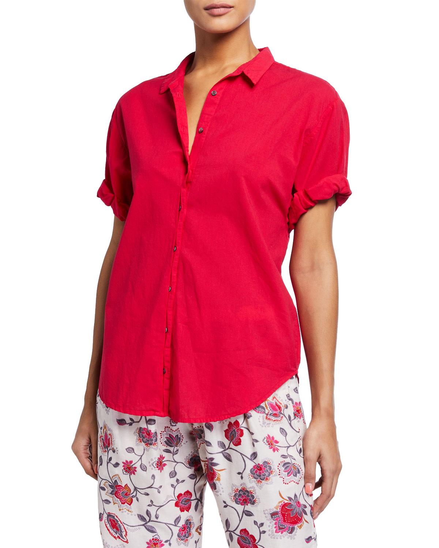 Xirena T-shirts CHANNING SOLID POPLIN PJ SHIRT