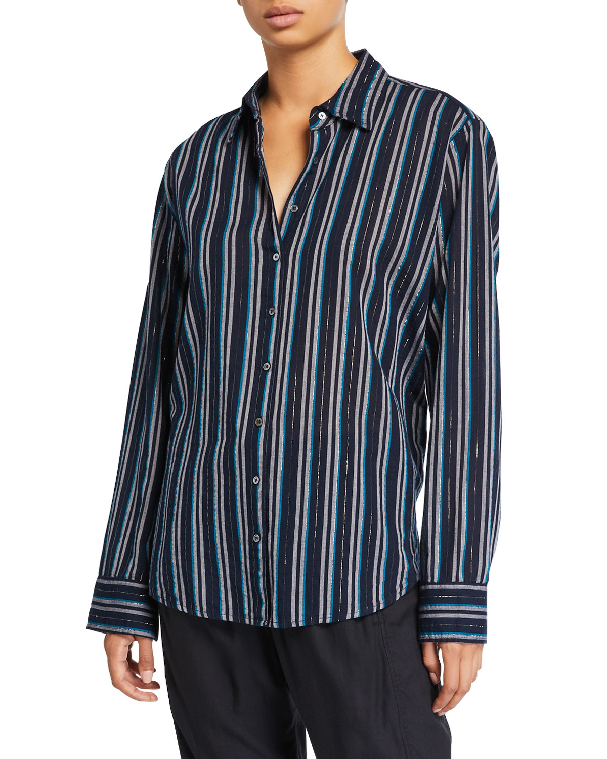 Xirena T-shirts BEAU STRIPED LOUNGE SHIRT