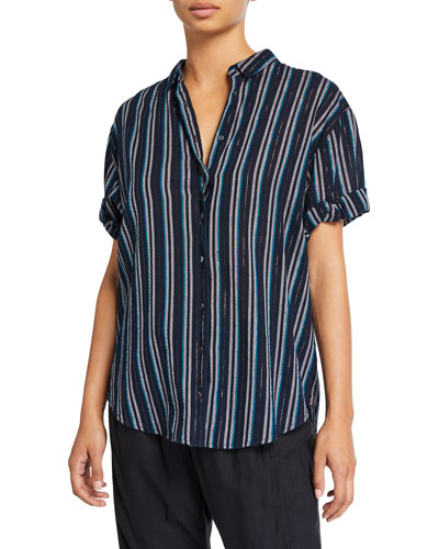 Channing Striped Poplin Shirt