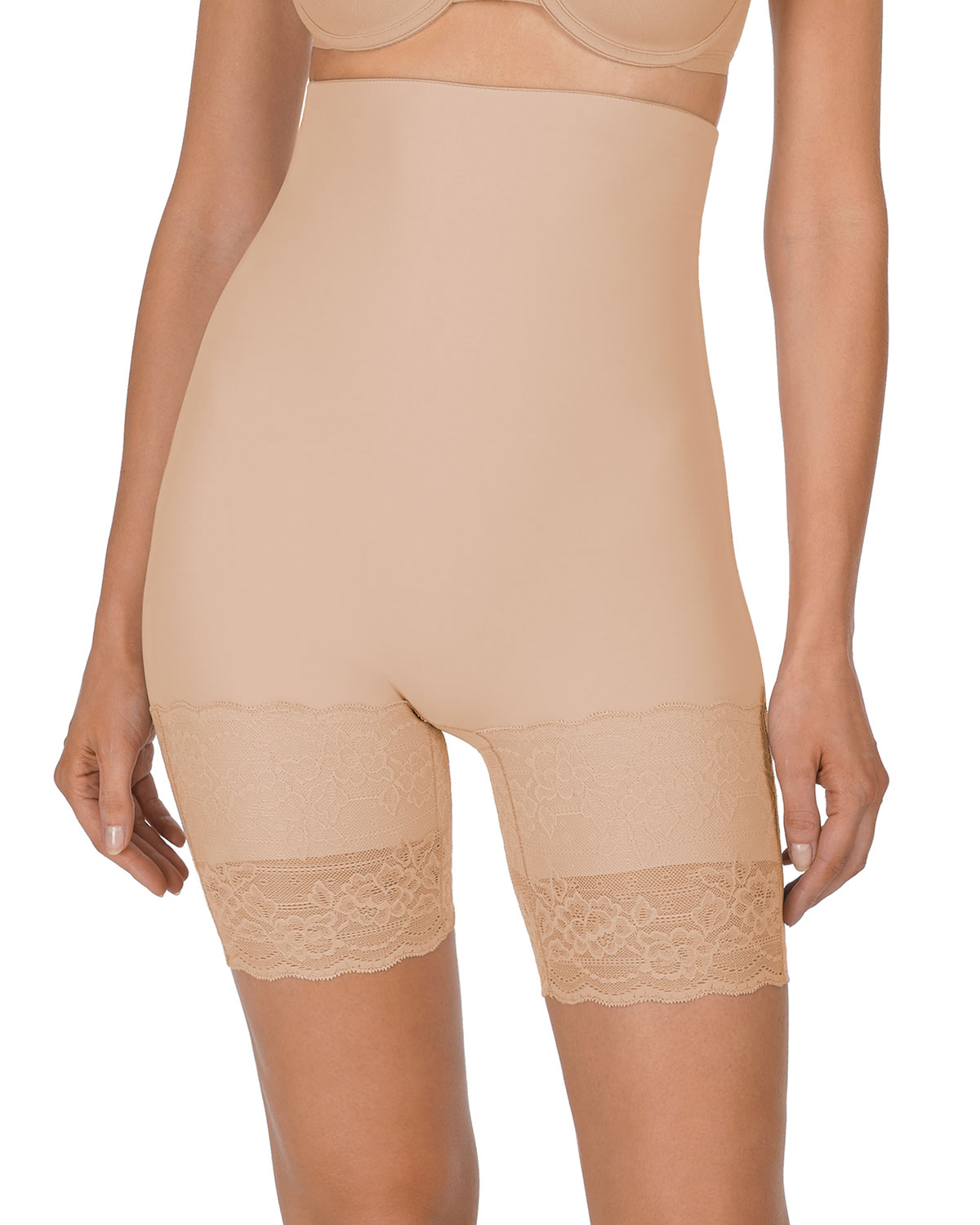 Natori Tops PLUSH HIGH-WAIST THIGH-SLIMMER SHAPER