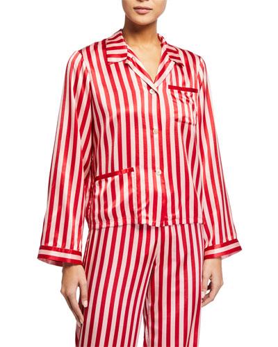 Ruthie Stripe  Pajama Top