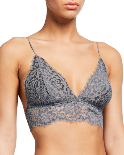 Pret A Porter Long-Line Lace Triangle Bralette