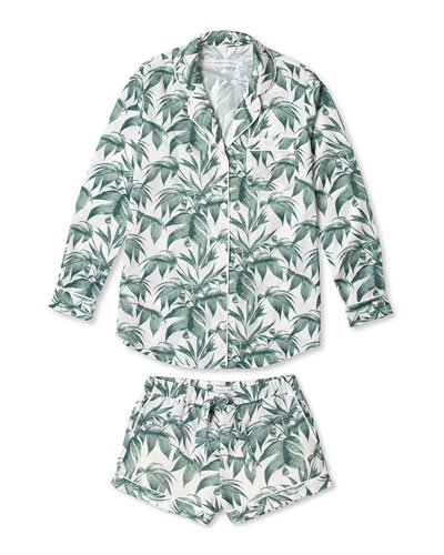 Byron Signature Long-Sleeve Short Pajama Set