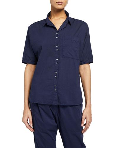 Jaylen Short-Sleeve Lounge Shirt