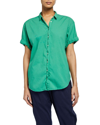 Channing Solid Poplin Lounge Shirt