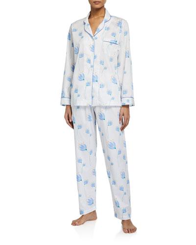 Tulip Printed Pique Classic Pajama Set