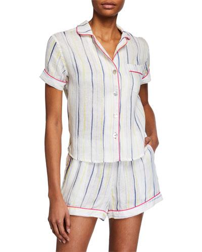 Nina Ink Stripes Short Pajama Set
