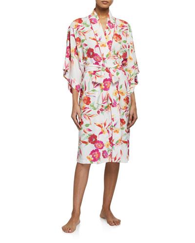 Seville Floral-Print Robe