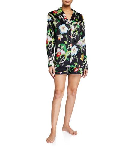 Alba Beatrice Printed Silk Pajama Set