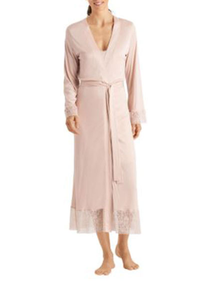 Imani Lace-Trim Long Robe