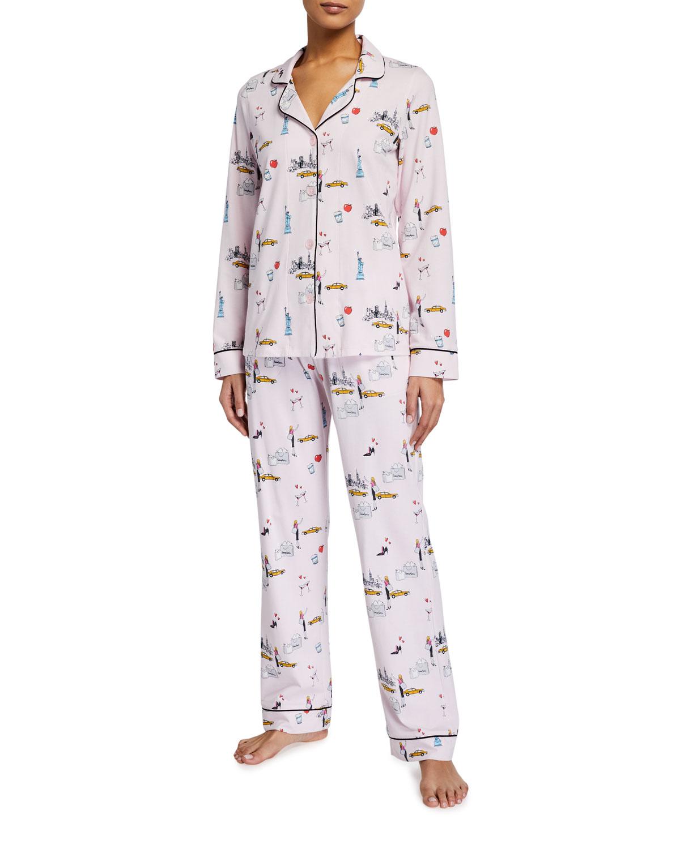 Bedhead Pajamas NEW YORK MINUTE CLASSIC LONG-SLEEVE PAJAMA SET