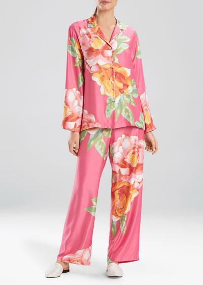 Serafina Floral-Print Pajama Set