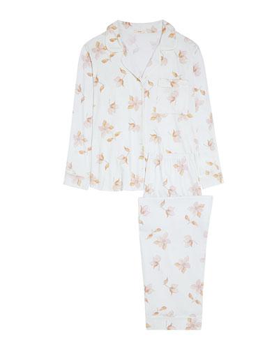 Garden Lilies Long Pajama Set