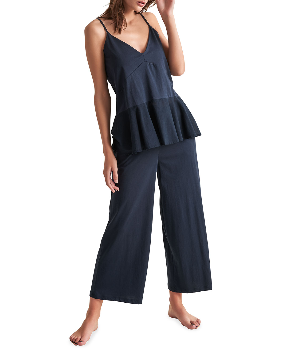 Skin JENELLE PIMA COTTON LOUNGE PANTS