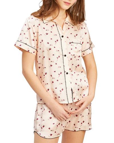 Tami Bea Lady Bug Printed Short Pajama Set