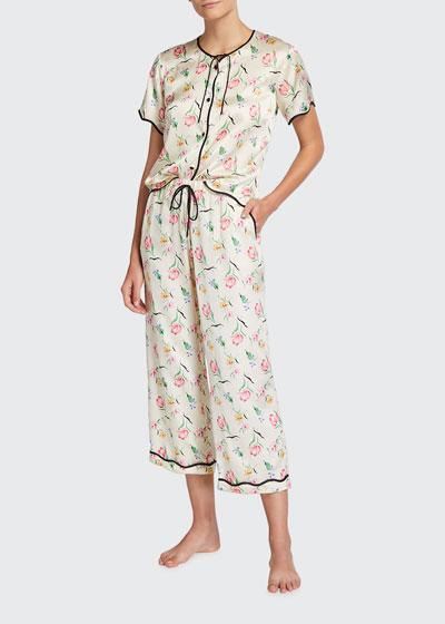 Beatrice Petal Two-Piece Pajama Set