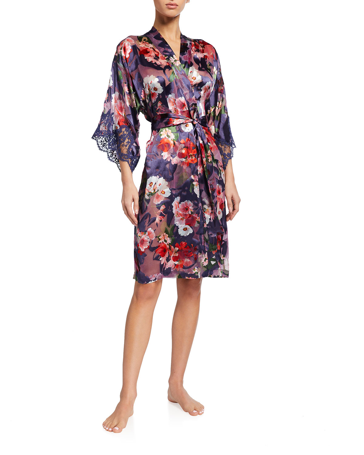 Lise Charmel REVE ORCHIDEE FLORAL BURNOUT ROBE