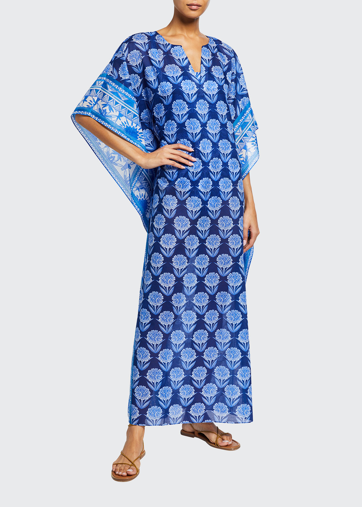 Johnny Was YAO FLORAL MAXI COVERUP KAFTAN