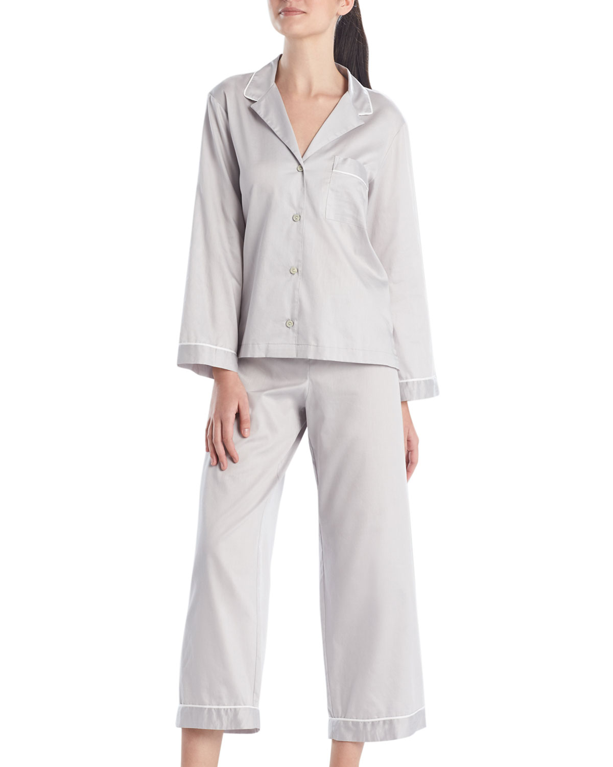 Natori COTTON SATEEN ESSENTIALS PAJAMA SET