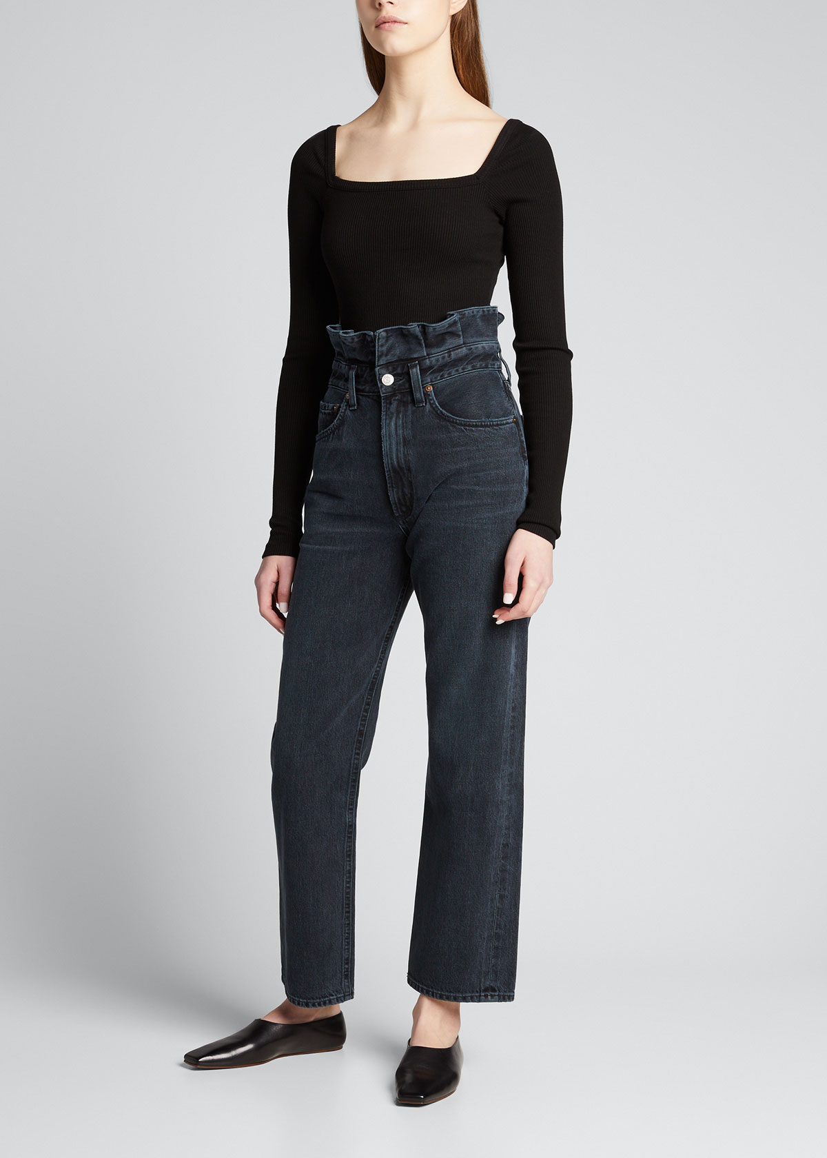 Agolde Clothing HANLEY SQUARE-NECK BODYSUIT
