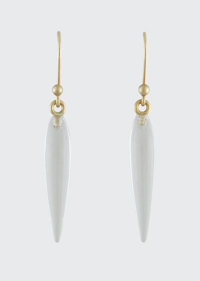 Small Rock Crystal Rice Earrings