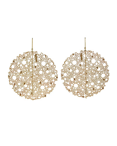 Yellow Gold Queen Anne's Lace Earrings