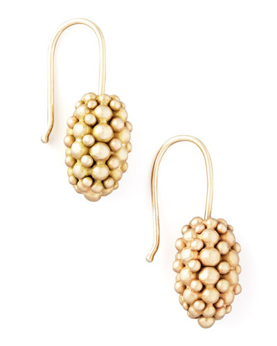 Yellow Gold Raspberry Earrings