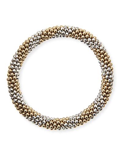 Elsie D 14k and Silver Bead Bracelet